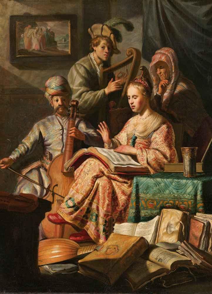Musical Company - Rembrandt Harmenszoon van Rijn