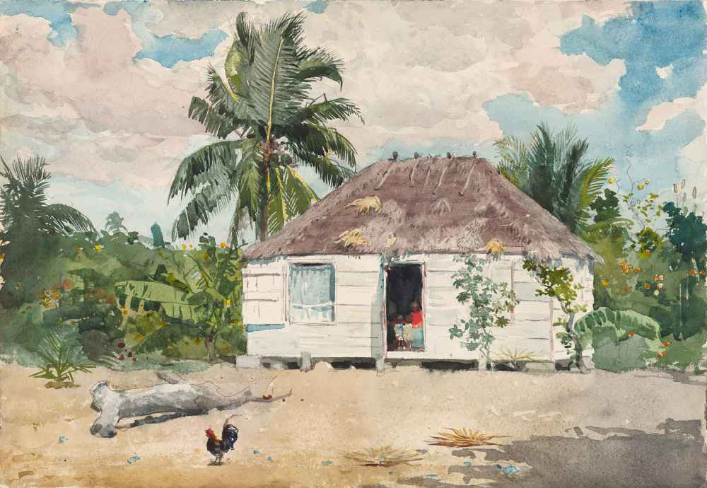 Native hut at Nassau - Winslow Homer