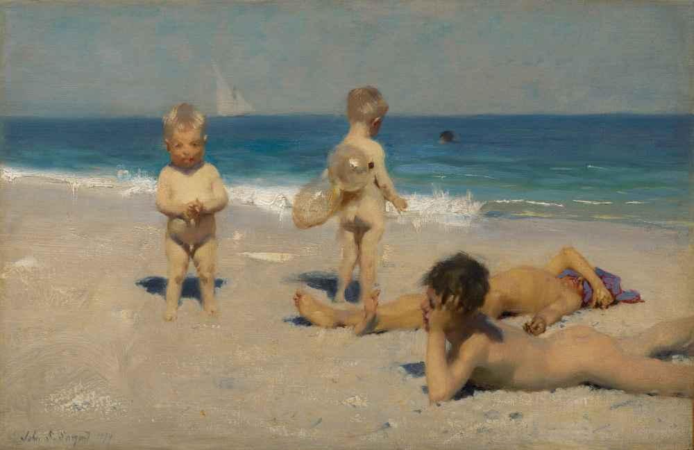 Neapolitan Children Bathing - John Singer Sargent