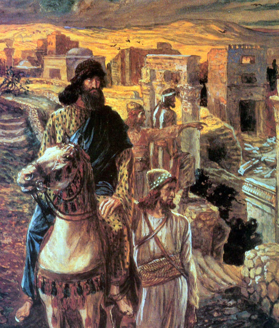 Nehemiah sees the rubble in Jerusalem - Tissot
