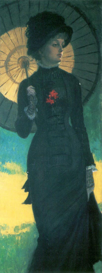 Newton woman with a parasol - Tissot