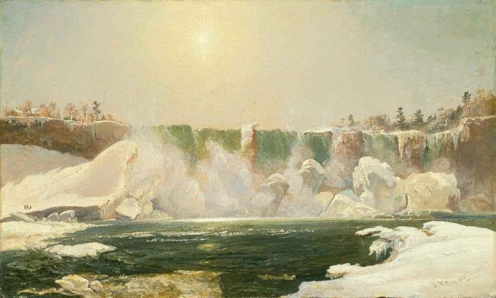 Niagara Falls in Winter - Jasper Francis Cropsey