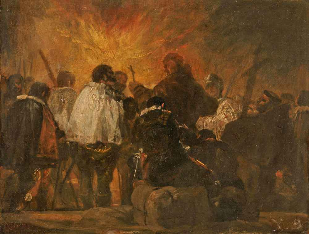 Night Scene from the Inquisition - Francisco Goya