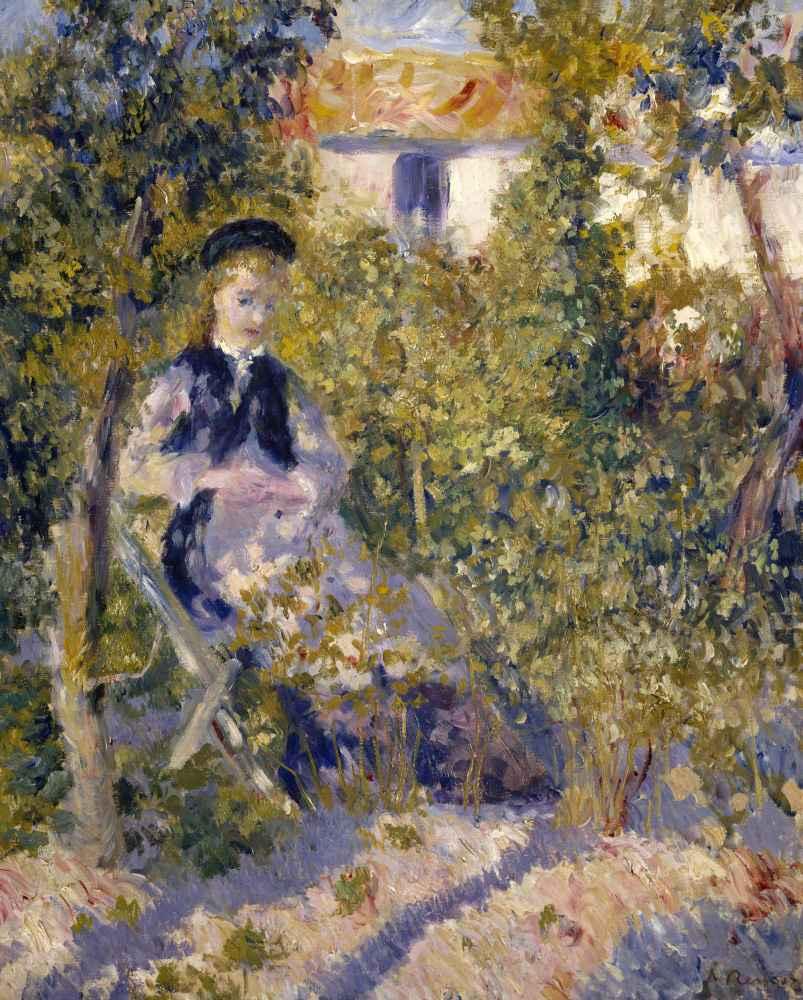 Nini in the Garden (Nini Lopez) - Auguste Renoir