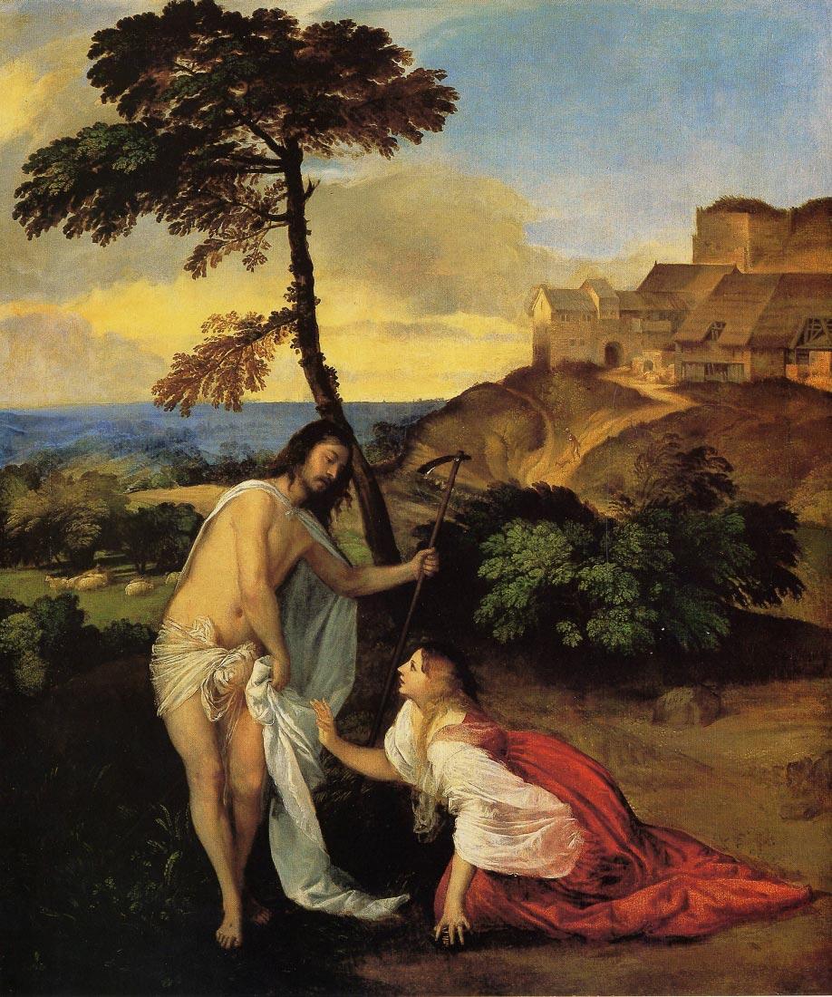 Noli me Tangere, - Titian