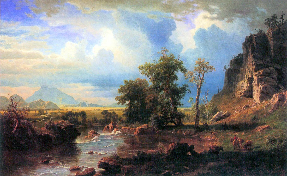 Northern fork of the Plate, Nebraska - Bierstadt