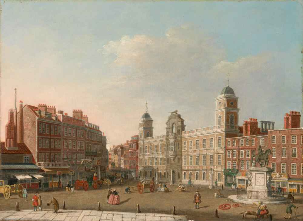 Northumberland House, London - Canaletto - Bernardo Bellotto