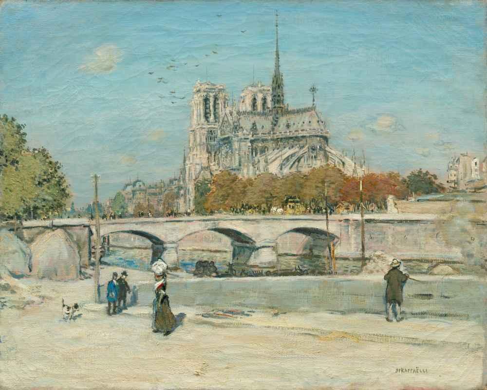 Notre Dame Seen from the Quai de la Tournelle - Jean-François Raffaëll