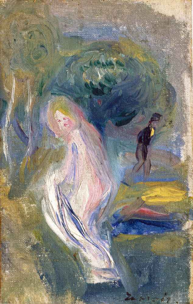 Nude with Figure in Background - Auguste Renoir