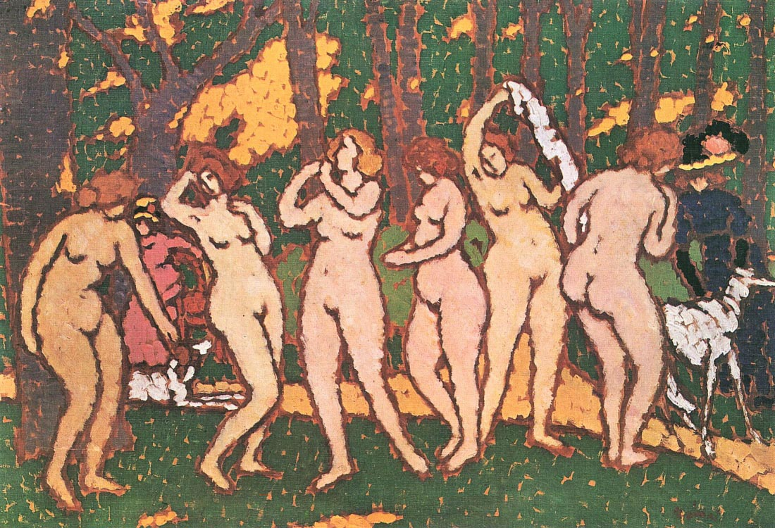 Nudes in the park - Joseph Rippl-Ronai