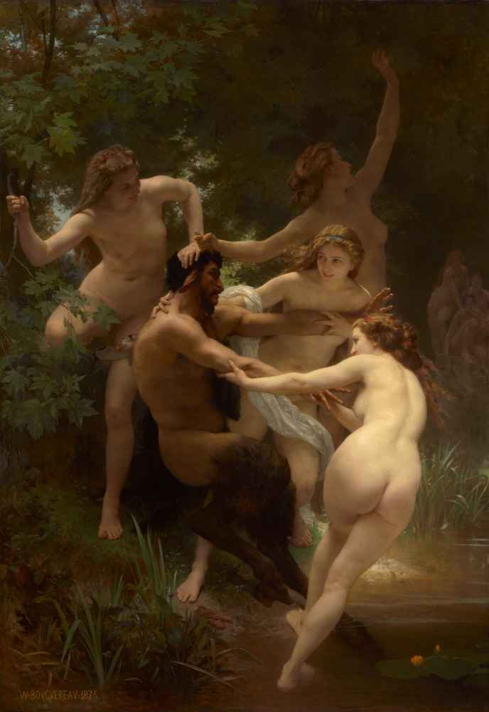 Nymphs and Satyr 2 - William-Adolphe Bouguereau