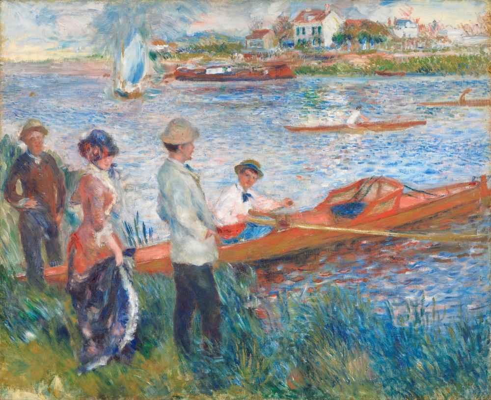 Oarsmen at Chatou - Auguste Renoir
