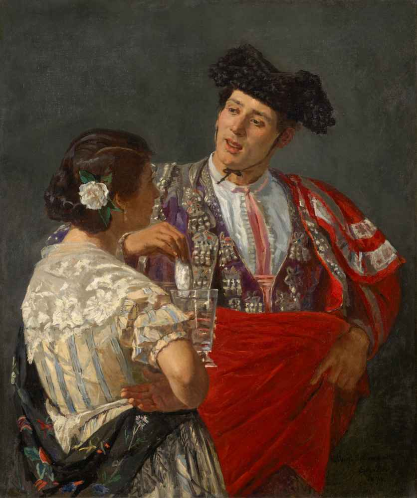 Offering the Panal to the Bullfighter - Mary Cassatt