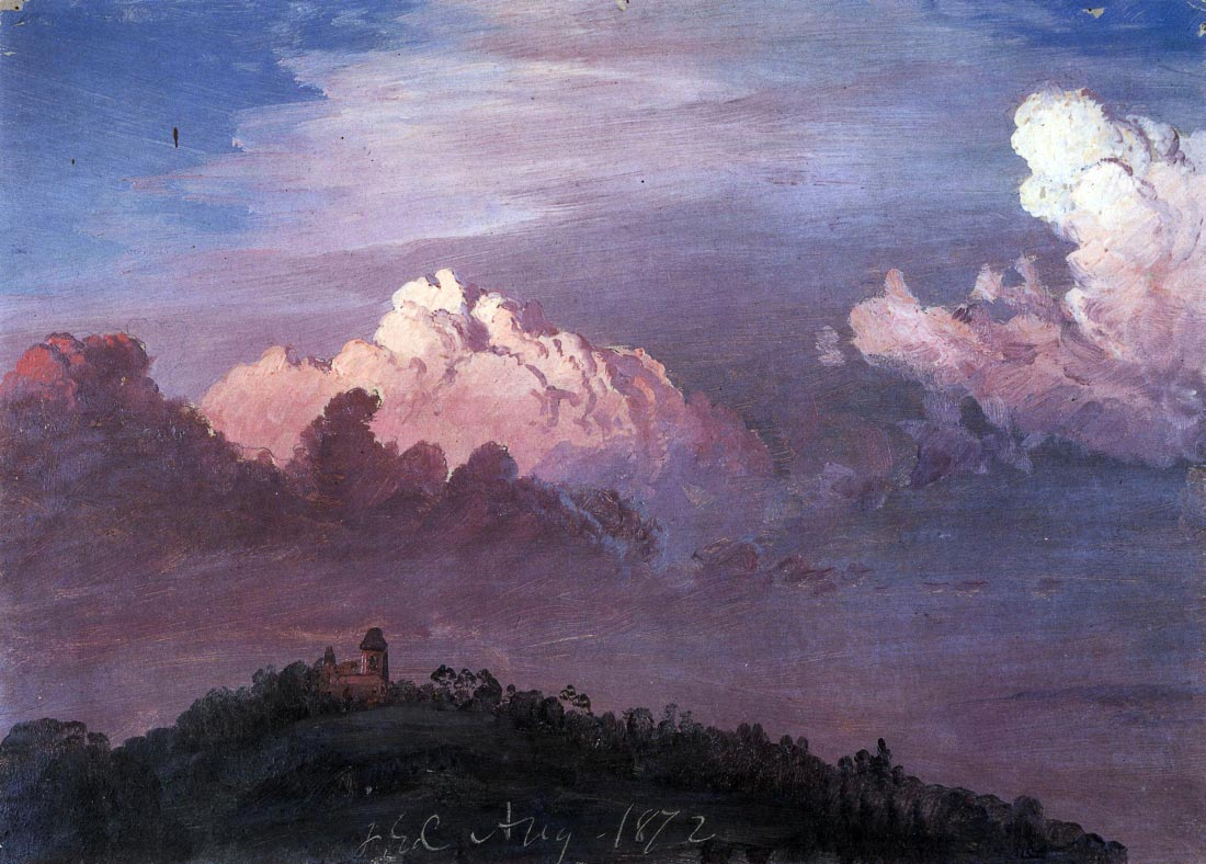 Olana in the clouds - Frederick Edwin Church