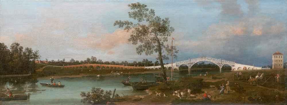 Old Walton Bridge - Canaletto - Bernardo Bellotto