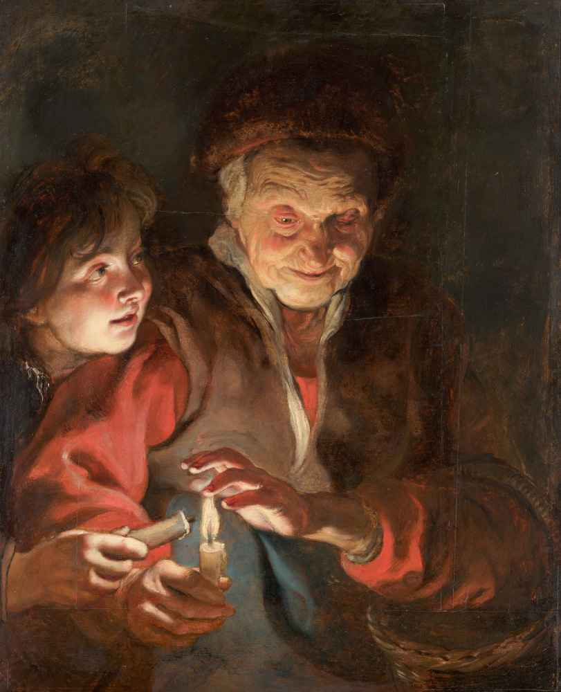 Old Woman and Boy with Candles - Peter Paul Rubens