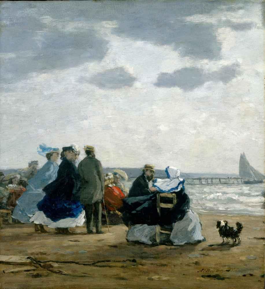 On the Beach, Dieppe - Eugene Boudin