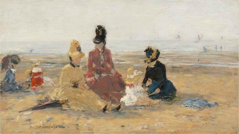 On the Beach, Trouville - Eugene Boudin