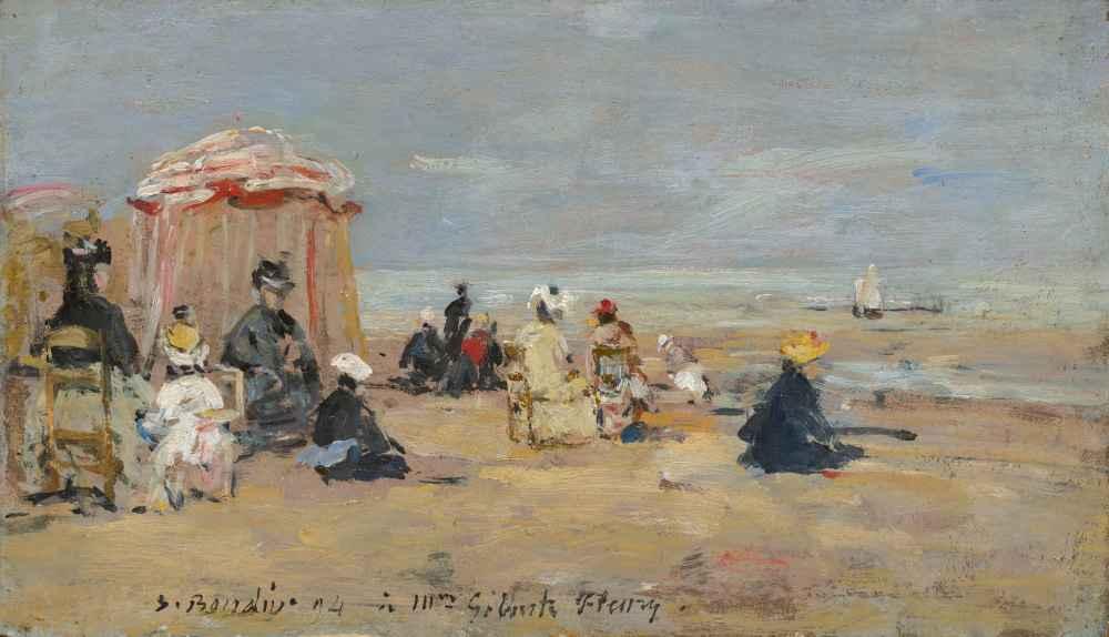 On the Beach - Eugene Boudin