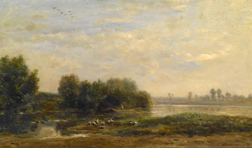 On the Oise - Charles-Francois Daubigny