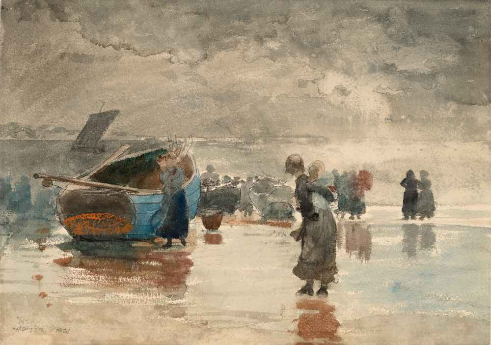 On the Sands - Winslow Homer