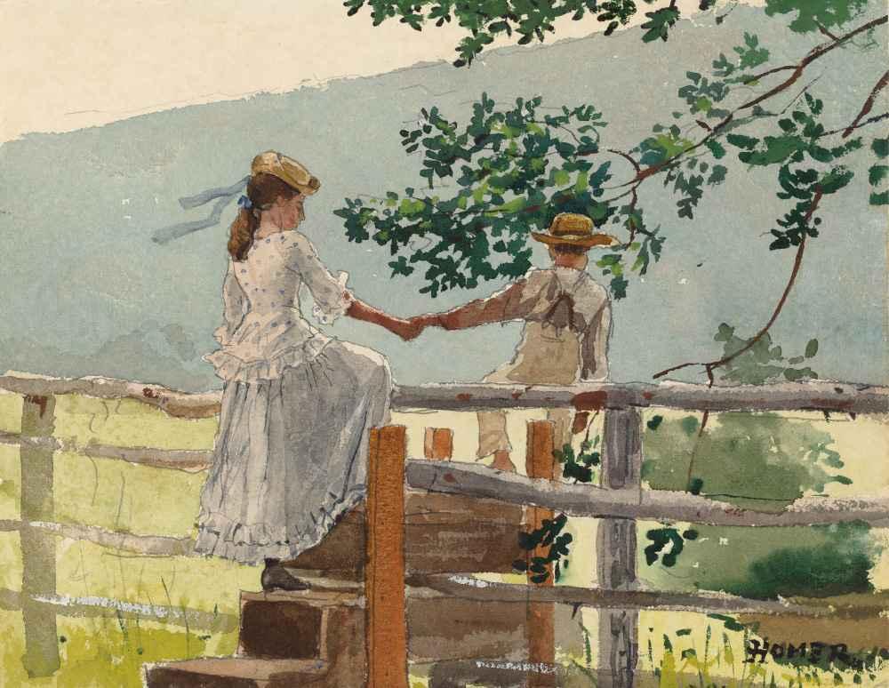 On the Stile - Winslow Homer