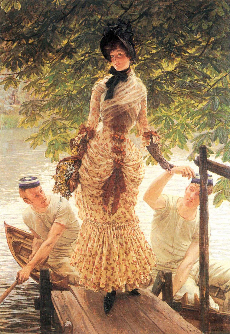On the Thames - Tissot