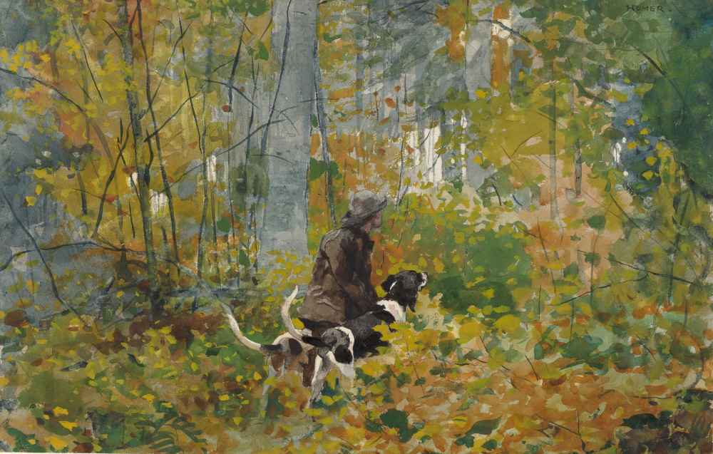On the Trail - Winslow Homer