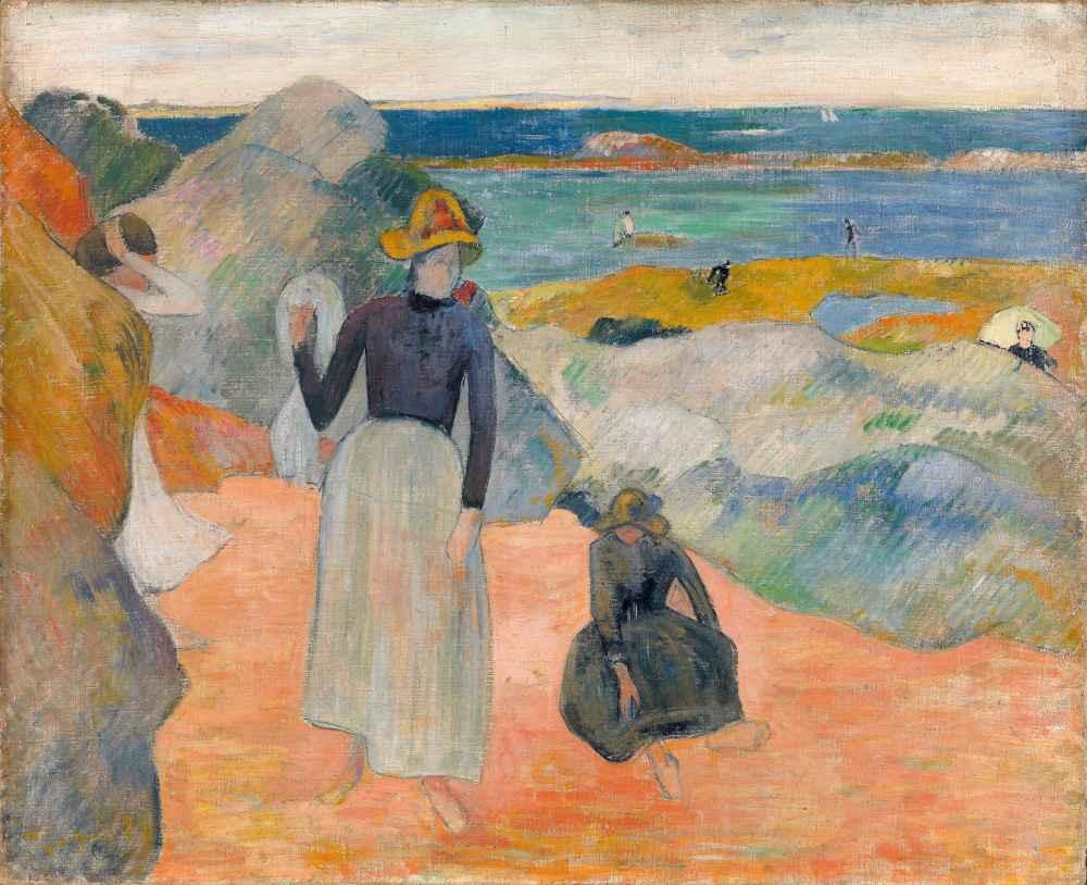 On the beach - Paul Gauguin