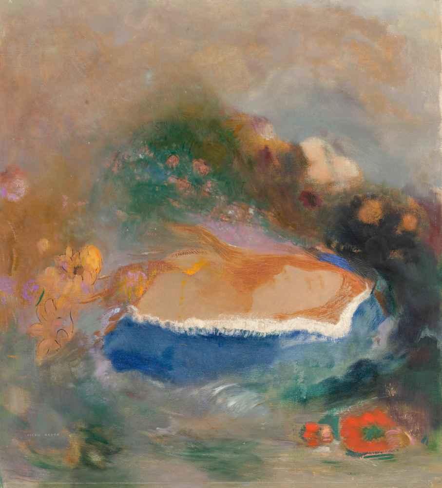Ophélie, la cape bleue sur les eaux (Ophelia with a Blue Wimple in the