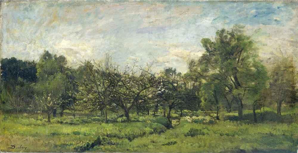 Orchard - Charles-Francois Daubigny