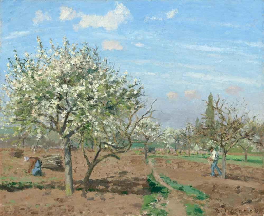 Orchard in Bloom, Louveciennes - Camille Pissarro