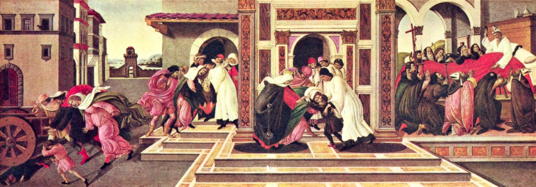 Painting the life of St. Zenobius of Florence - Botticelli