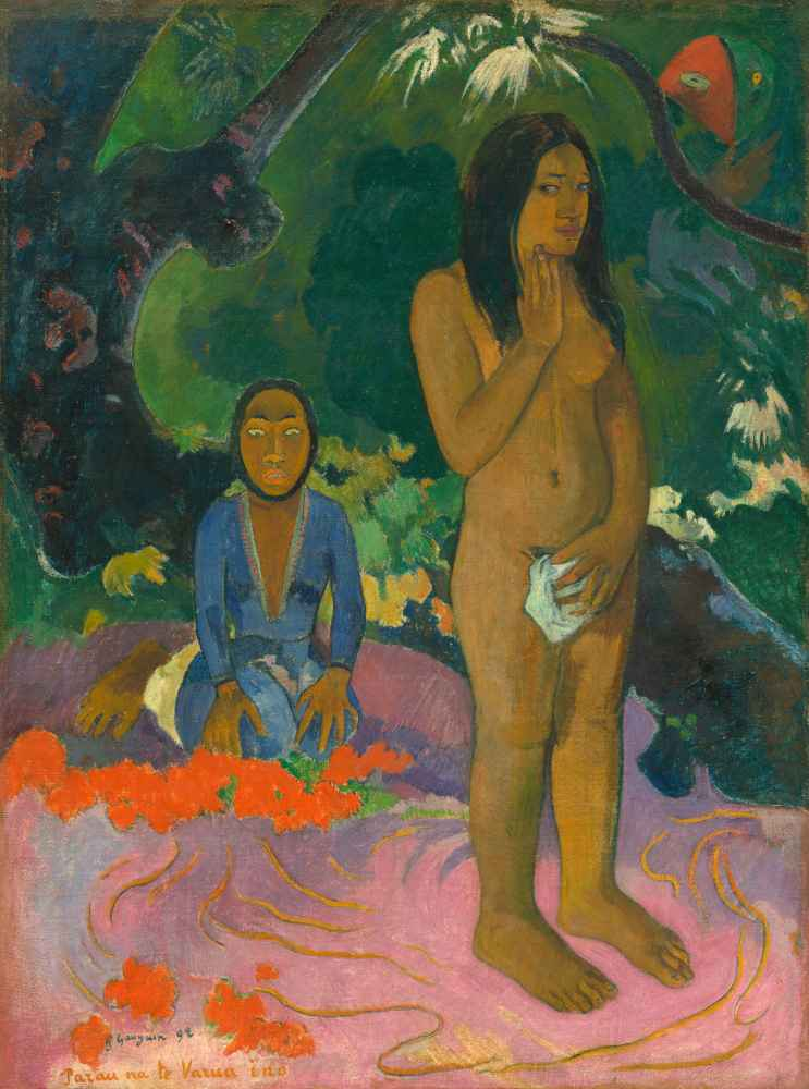 Parau na te Varua ino (Words of the Devil), 1892 - Paul Gauguin