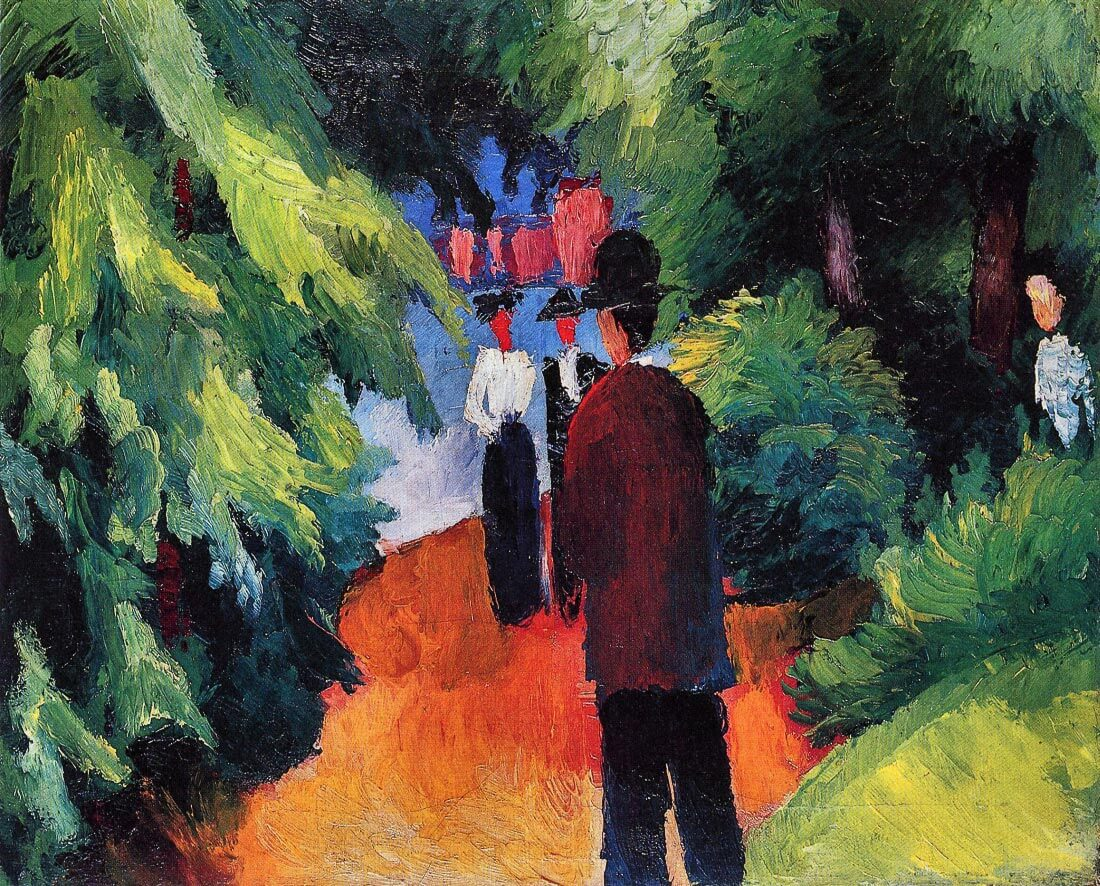 Park on the waterfront - August Macke
