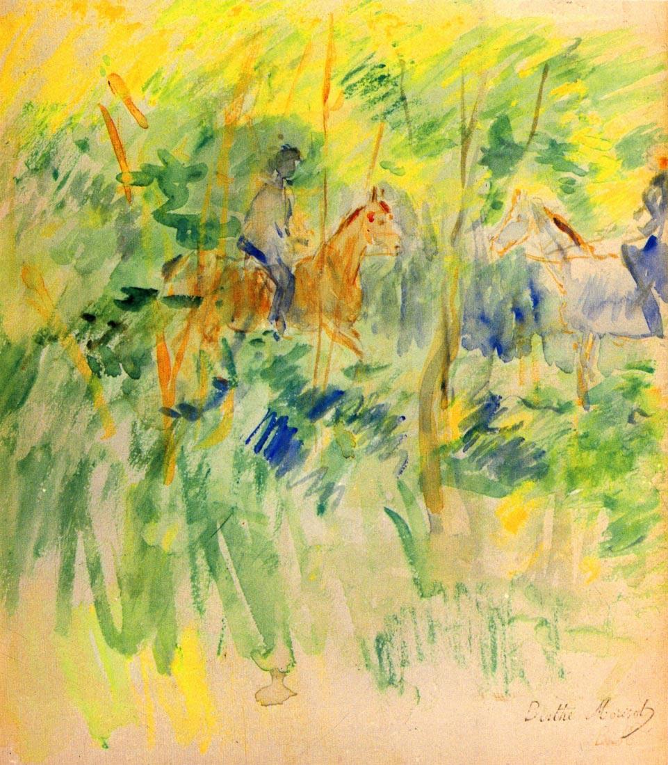 Path in Bois de Boulogne - Morisot