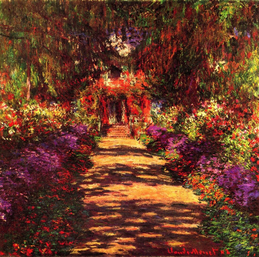 Path in Monets garden in Giverny - Monet