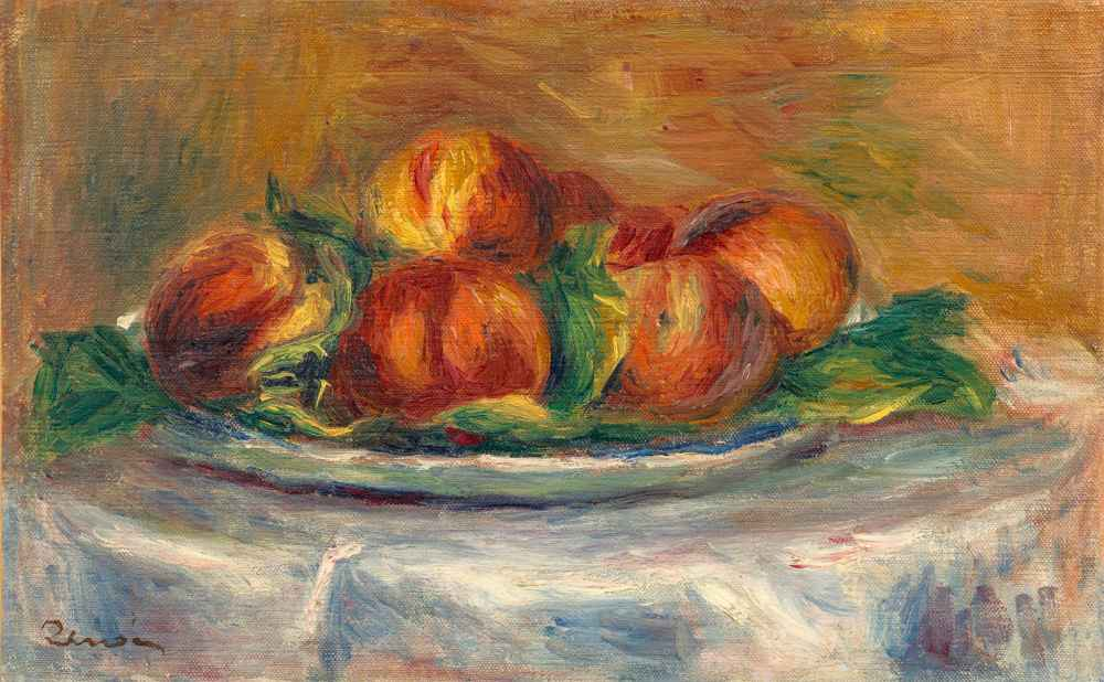 Peaches on a Plate - Auguste Renoir