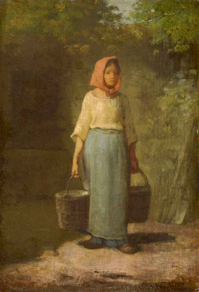Peasant Girl Returning from the Well - Jean Francois Millet