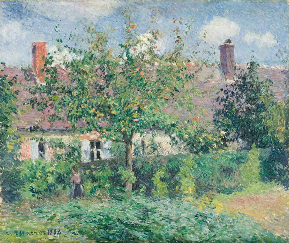 Peasant House at Éragny - Camille Pissarro