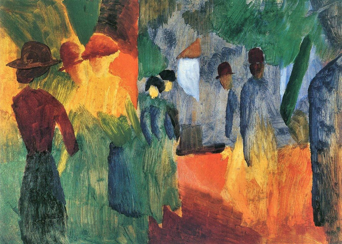 People in the park - August Macke