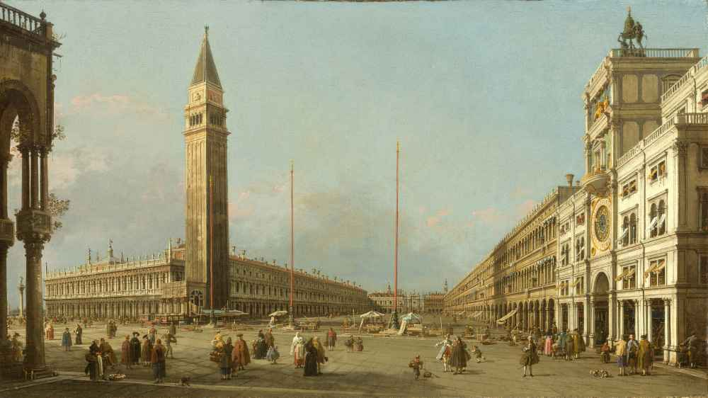 Piazza San Marco Looking South and West - Canaletto - Bernardo Bellott