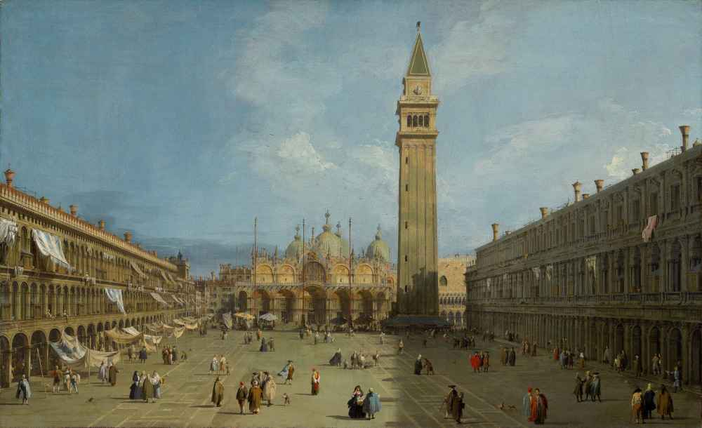 Piazza San Marco - Canaletto - Bernardo Bellotto