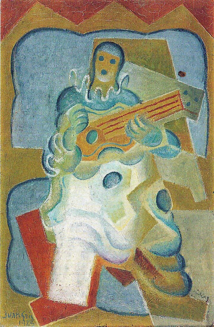 Pierrot, playing guitar - Juan Gris