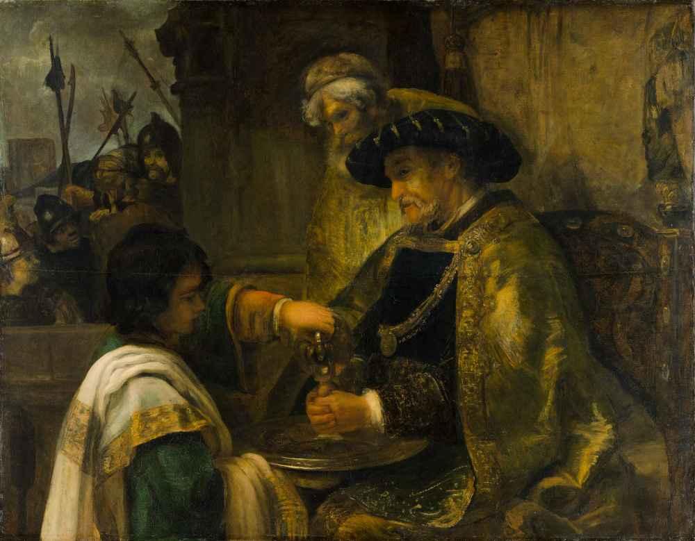Pilate Washing His Hands - Rembrandt Harmenszoon van Rijn