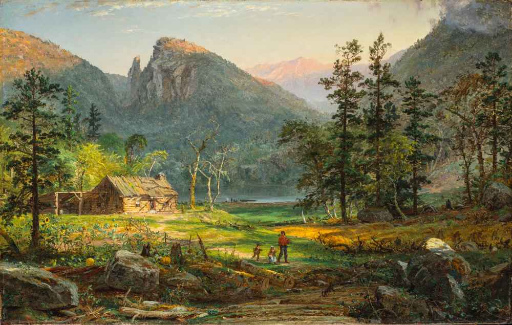 Pioneers Home, Eagle Cliff, White Mountains - Jasper Francis Cropsey