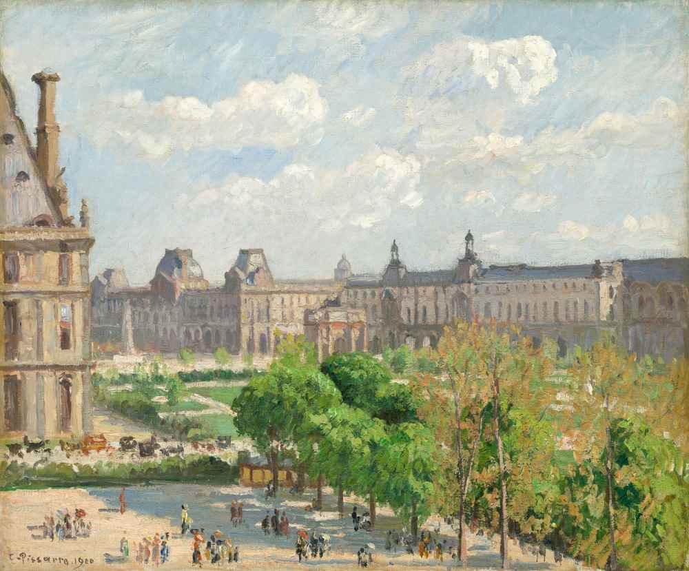 Place du Carrousel, Paris - Camille Pissarro