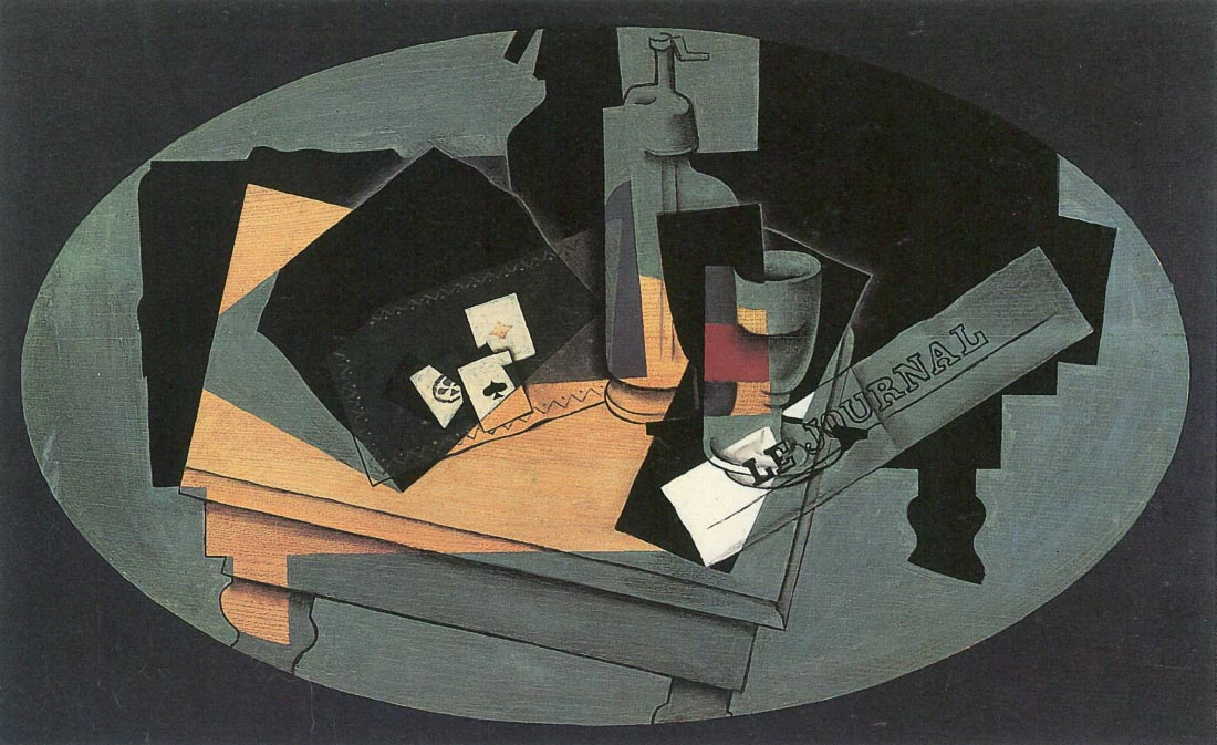 Playing cards and siphon - Juan Gris