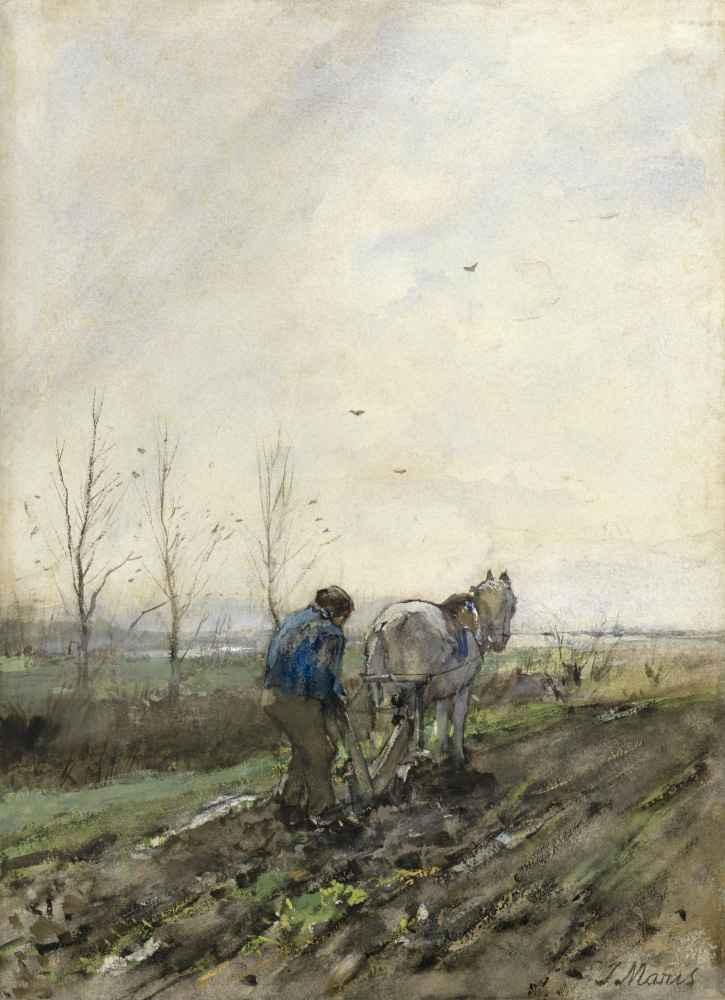 Ploegende boer - Matthijs Maris