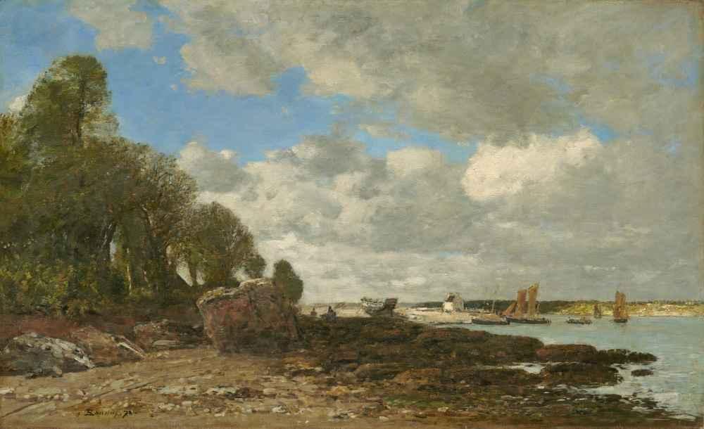 Plougastel, the Ferry Crossing - Eugene Boudin